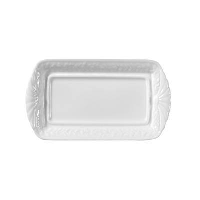 BERNARDAUD FRANCE LOUVRE Covered butter – rectangular 9″ x 4.5″