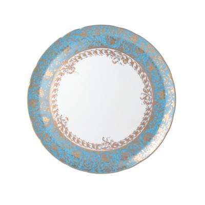 BERNARDAUD FRANCE EDEN TURQUOISE Deep Round Dish 11.5″