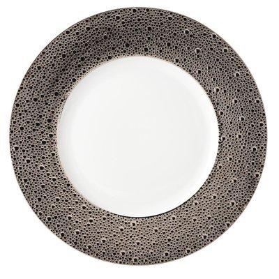 BERNARDAUD FRANCE ECUME PLATINUM Service Plate 12.5″