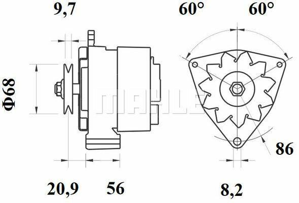 Deutz alternator Mahle MG245