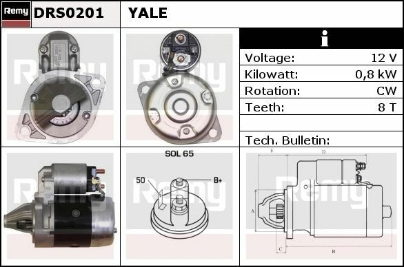 Startmotor Hyster Delco Remy DRS0201 DRS0201