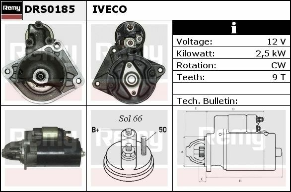 Iveco startmotor Bosch 0001109306 DRS0185