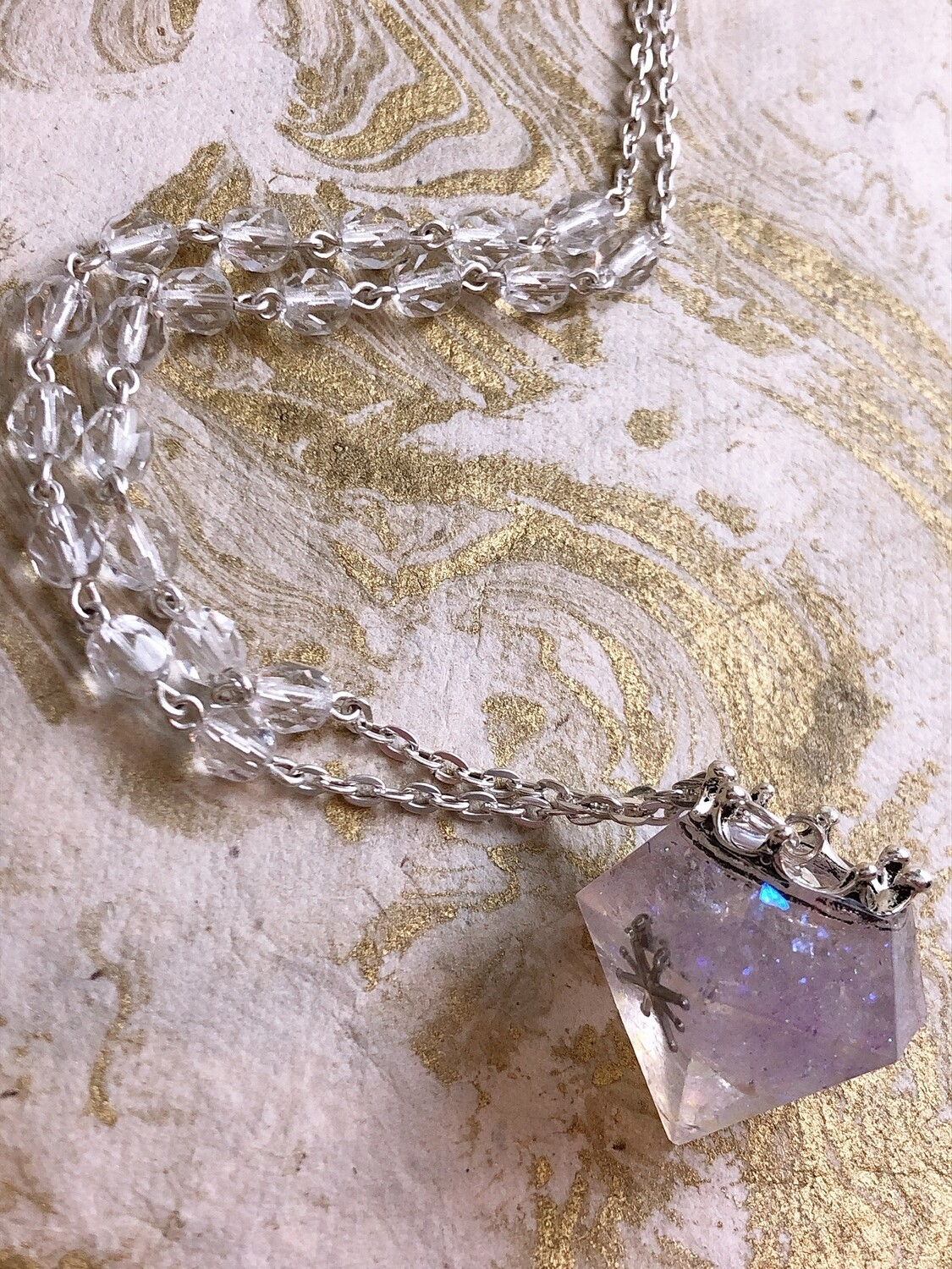 crowned jewel necklace (starlight)