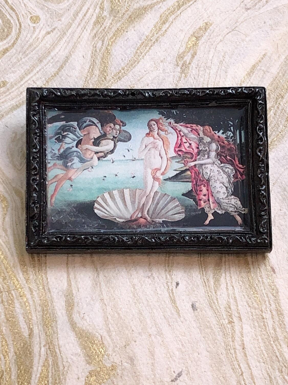 frame brooch (birth of venus)