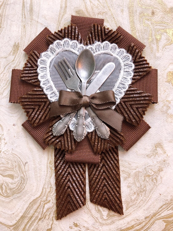 chocolate cutlery rosette