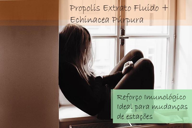 Própolis extrato fluído 50% + Echinacea Púrpura tintura 50 mL -  Solução em gotas (Imunidade)