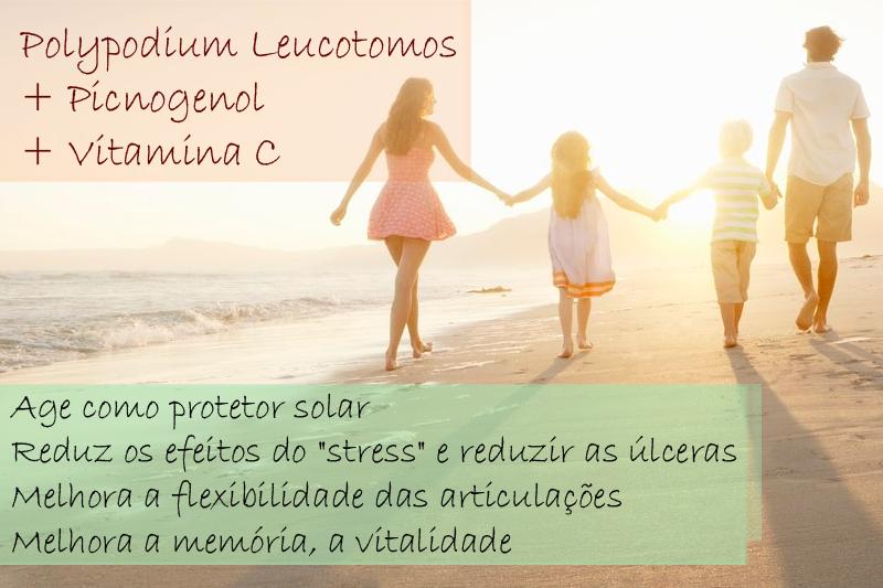 Polypodium Leucotomos 250mg + Picnogenol 75mg + Vitamina C 150mg - Cápsula