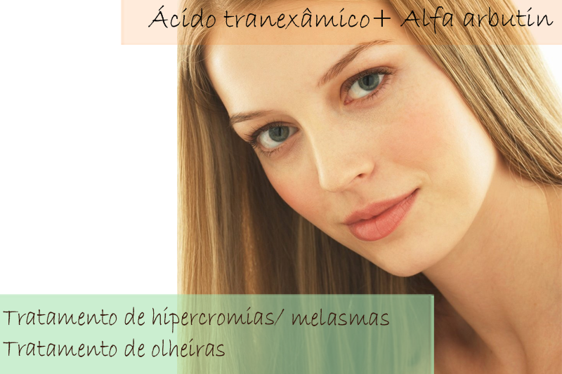 Gel Clareador com Ácido tranexâmico 3% + Alfa arbutin 2% - Gel