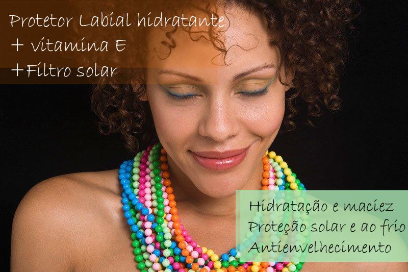 Protetor Labial hidratante + Vitamina E + Filtro solar – Roll-on