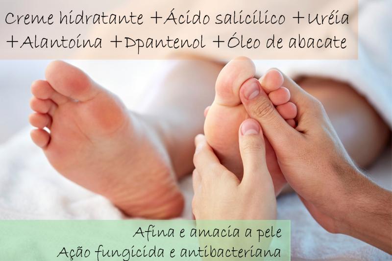 Creme hidratante para rachadura dos pés + Ácido salicílico  5% + Uréia 15% + Alantoína 1% + Dpantenol 2% + Óleo de abacate 3% - Creme