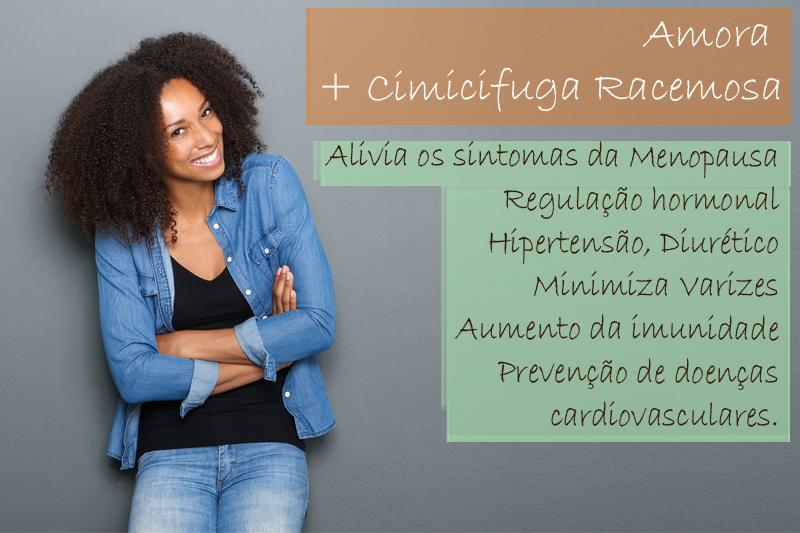 Amora extrato seco 400mg + Cimicifuga Racemosa extrato seco 80mg - Cápsula