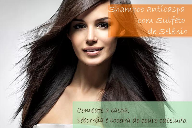 Shampoo anticaspa com Sulfeto de Selênio; Shampoo