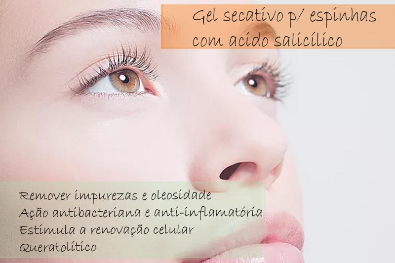 Gel secativo para espinhas com acido salicílico 3% - Gel
