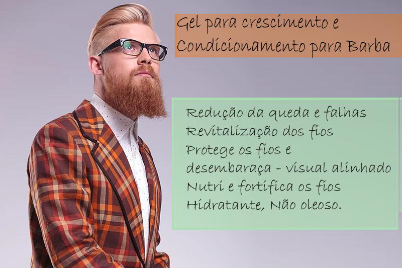 Gel para crescimento Condicionamento para Barba - Condicionador para barba