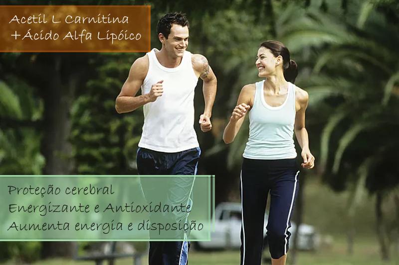 Acetil L Carnitina 200mg; Ácido Alfa Lipóico 200mg - Cápsulas (proteção cerebral, energizante e antioxidante)