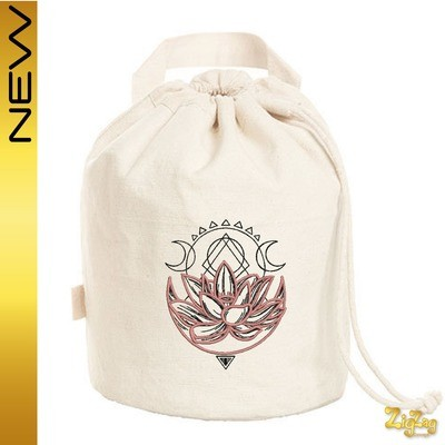 Sac pochon BIO avec Lotus brodé