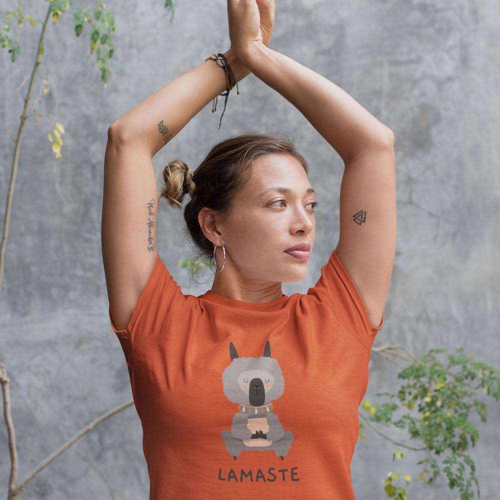 """T-shirt Femme BIO motif  """"LAMASTE"""""""