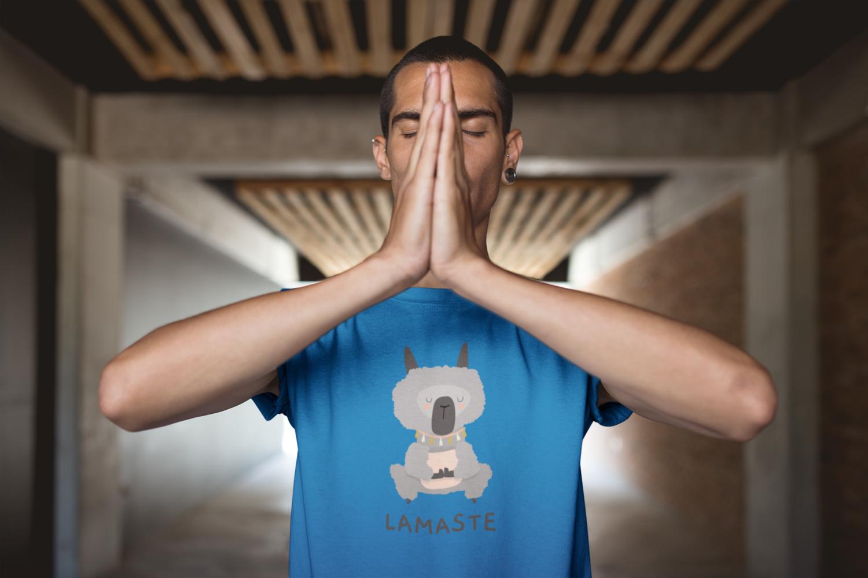 """T-shirt Homme BIO motif  """"LAMASTE"""""""