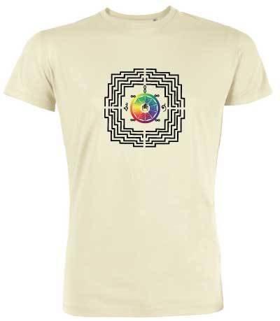"""T-shirt Homme BIO """"bien-être"""" motif Borobudur"""