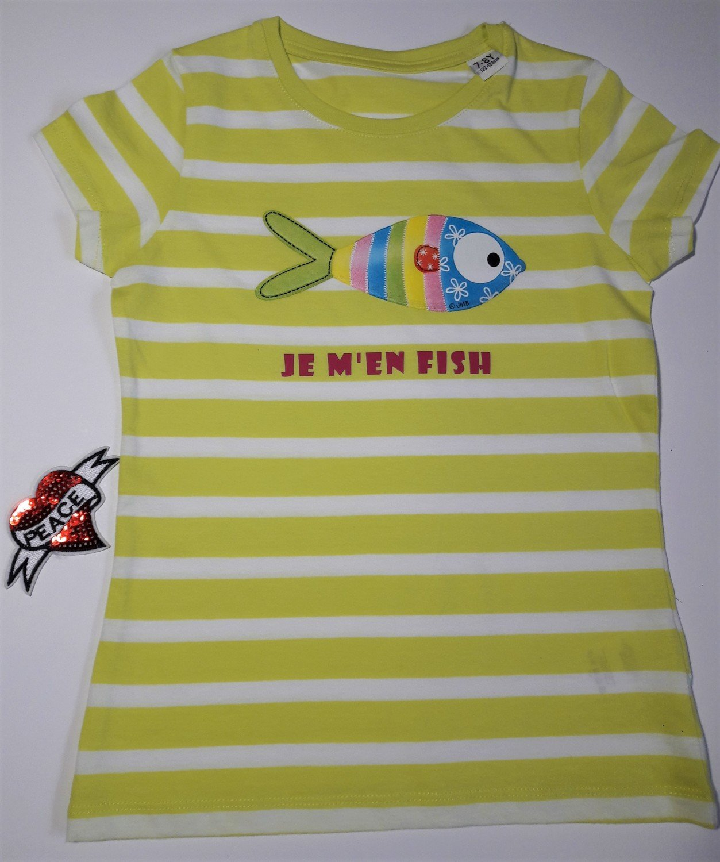 T-shirt BIO marin fille Edition Limitée 7-8 ans