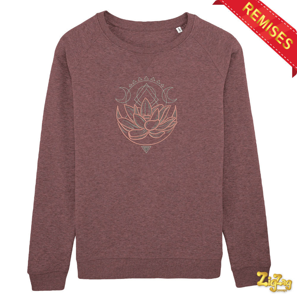 Sweat TAILLE M Bio brodé LOTUS