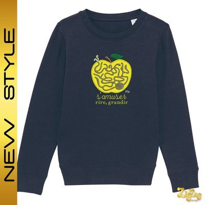 Sweat enfant BIO brodé