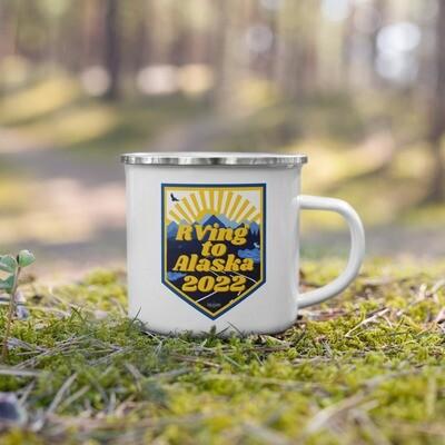 RV2AK22 Rving to Alaska Enamel Mug