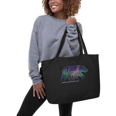 AK Aurora Bear Large organic tote bag