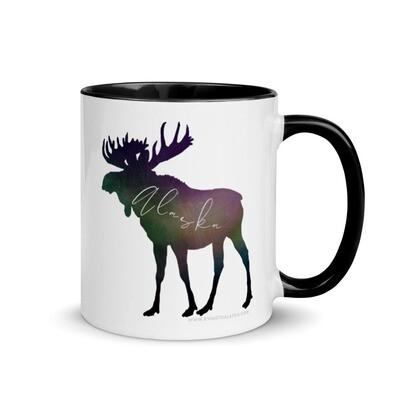 AK Aurora Moose Mug