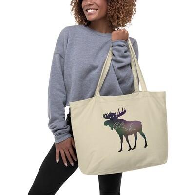 AK Aurora Moose Large organic tote bag