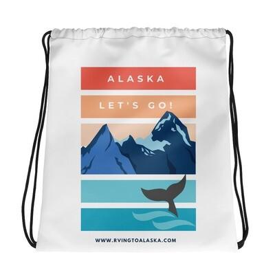 Alaska Let's Go Drawstring bag