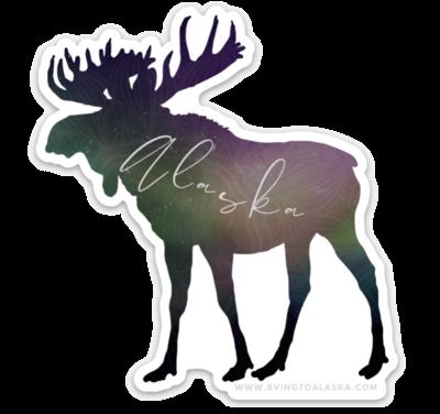 AK Aurora Moose  Decal