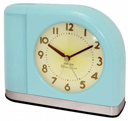 Westclox Big Ben Moon Beam Alarm Clock Aqua Blue 43006X