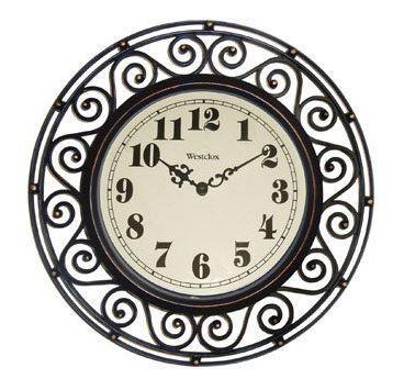 Westclox Wrought Iron Look Wall Clock 12
