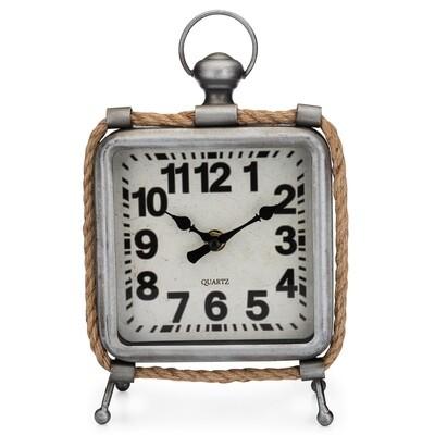 Westclox Industrial Metal & Rope Vintage Look Table Clock