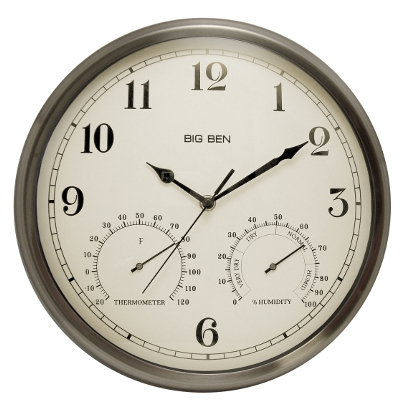 Westclox Outdoor Wall Clock 49832