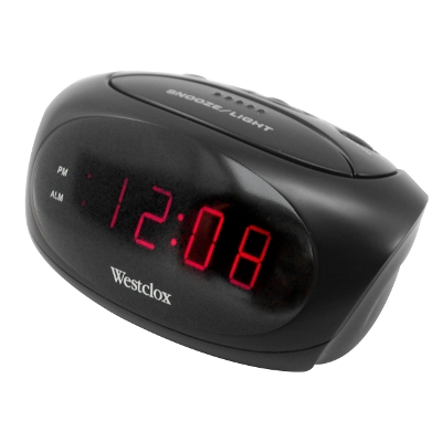 Westclox LED Digital Alarm Clock 70044A