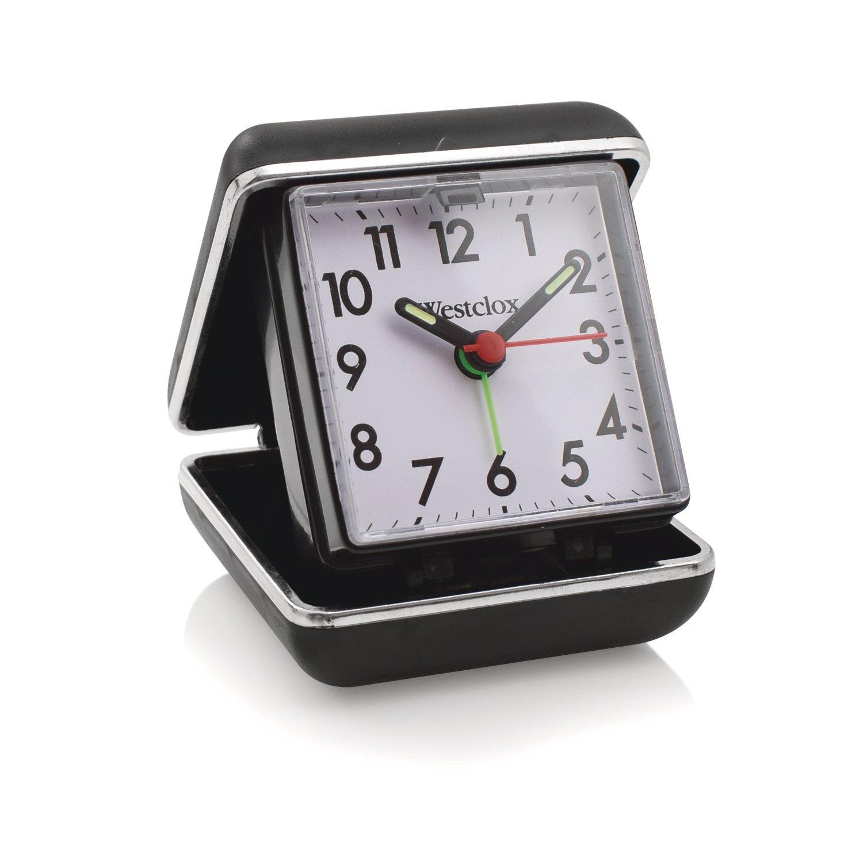 Westclox Folding Travel Analog Alarm Clock