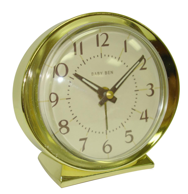 Westclox 1964 Baby Ben Classic Analog Battery Alarm Clock Almond 11605QA
