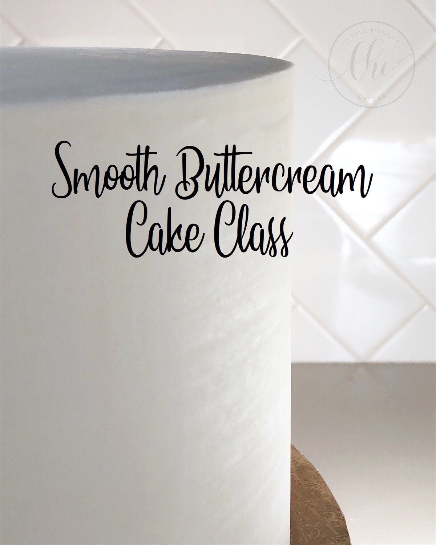 Smooth buttercream cake class- Online