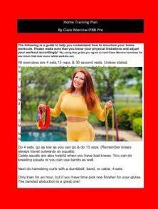 Home Training Plan Digital Download!