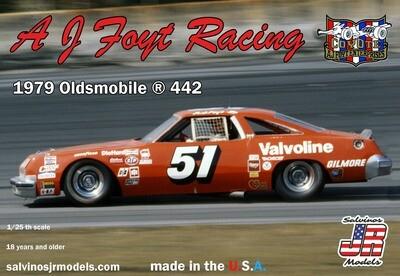 AJ Foyt Racing 1979 Oldsmobile 442 Salvino Jr. Model Kit