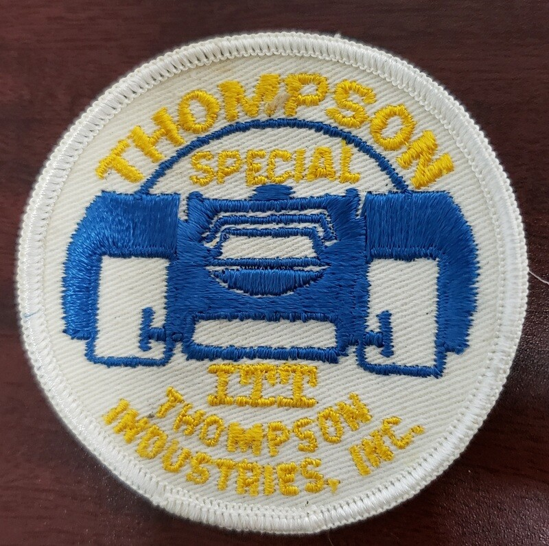 Circa 1960s Thompson Industries Embroidered Patch