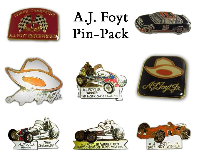 A.J. Foyt Pin Collection