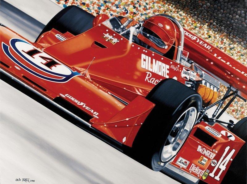 First 4Time Winner Colin Carter Print - AUTOGRAPHED