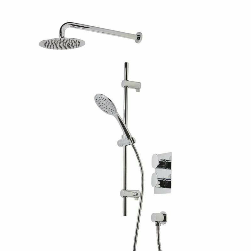 Fuse Concealed Dual Function Shower System With Shower Head And Handset