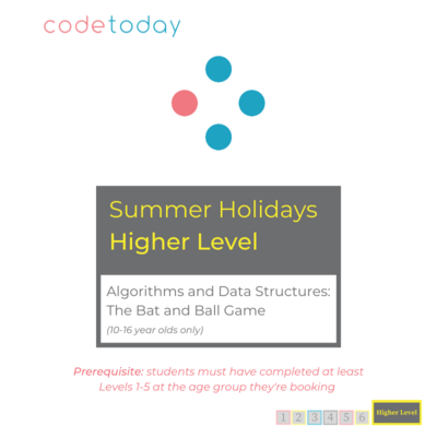 Higher Level   Algorithms and Data Structures: The Bat and Ball Game   Summer Holidays 2021