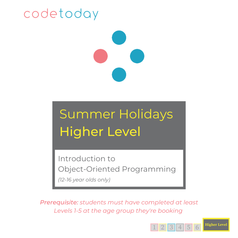 Higher Level   Introduction to Object-Oriented Programming   Summer Holidays 2021