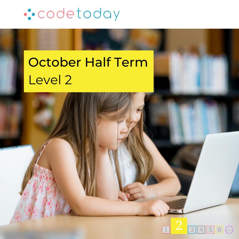 LEVEL 2 | Live Online Coding in Python | October Half Term 2021