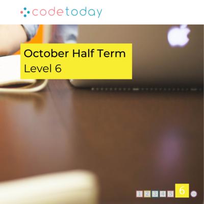 LEVEL 6   Live Online Coding in Python   October Half Term 2021